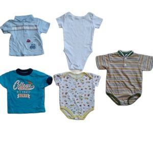 💗Lot of 5 Boy's T-shirts and Bodysuits